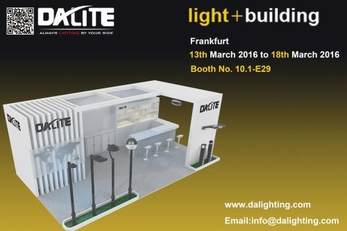 شركة Dalite شاركت في معرض الضوء + البناء (مارس 2016) في فرانكفورت ألمانيا